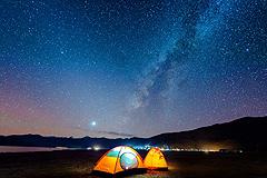 冬季到羊湖 去看最本真的星空