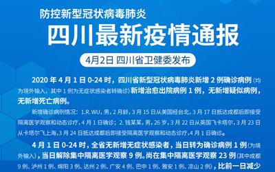 防控新型冠狀病毒肺炎 四川最新疫情通報(截至4.1)