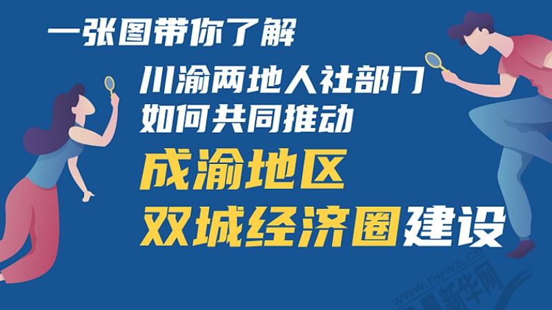 一張圖帶你了解川渝兩地人社部門如何共同推動成渝地區雙城經濟圈建設