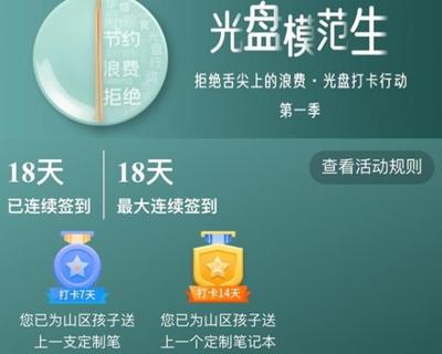 四川省光盤打卡行動第一季結束 300萬人次打卡 多地餐廚垃圾明顯下降