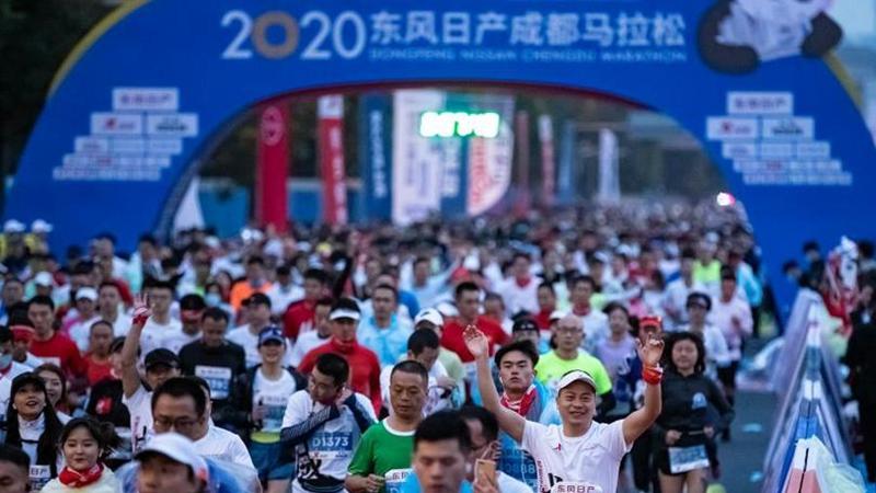 國社@四川|2020成都馬拉松賽舉行